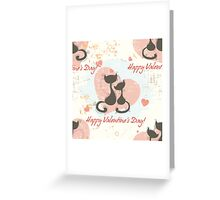 Romantic seamless pattern background Greeting Card