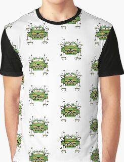 Funny Robot Cartoon Graphic T-Shirt