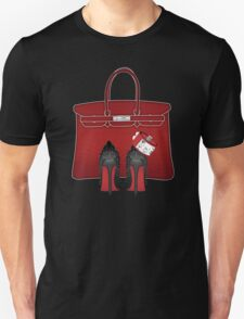 LOUBOUTIN RED MONOCHROM LUXURY  Unisex T-Shirt