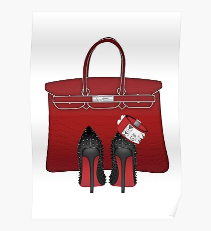 LOUBOUTIN RED MONOCHROM LUXURY  Poster