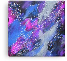Painted Universe #2 | Hand Painted Galaxy, Space Canvas Print