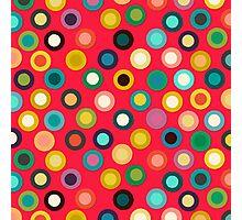 red pop spot Photographic Print
