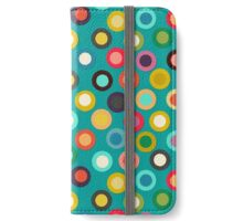 turquoise pop spot iPhone Wallet/Case/Skin