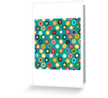 turquoise pop spot Greeting Card