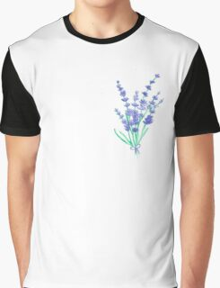 Hand draw flowers of lavender  Graphic T-Shirt