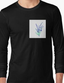 Hand draw flowers of lavender  Long Sleeve T-Shirt