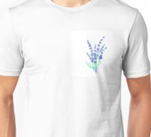 Hand draw flowers of lavender  Unisex T-Shirt