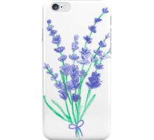 Hand draw flowers of lavender  iPhone Case/Skin
