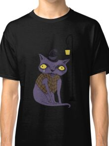 Sad Cat with Moonlight Memories Classic T-Shirt