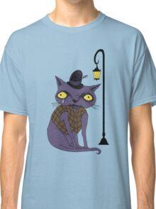 Sad Cat with Moonlight Memories Classic T-Shirt