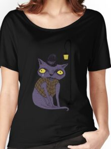 Sad Cat with Moonlight Memories Women's Relaxed Fit T-Shirt