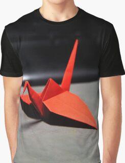 Red Origami Crane Graphic T-Shirt