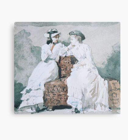 Two Ladies ,  Winslow Homer, Metal Print