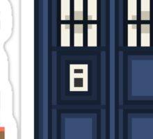 Pixel fourth Doctor Sticker