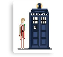 Pixel fifth Doctor Canvas Print