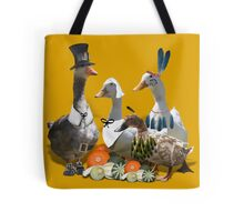 Pilgrims & Indians Thanksgiving Goose and Ducks Tote Bag