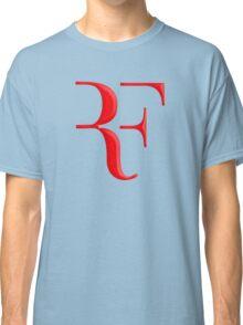 rf, roger federer, roger, federer, tennis, wimbledon, grass, tournament, ball, legend, sport, australia, nadal, net, cool, logo, perfect. Classic T-Shirt