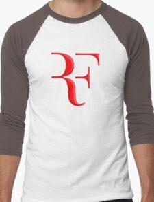rf, roger federer, roger, federer, tennis, wimbledon, grass, tournament, ball, legend, sport, australia, nadal, net, cool, logo, perfect. Men's Baseball ¾ T-Shirt