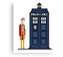 Pixel sixth Doctor Canvas Print