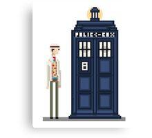 Pixel seventh Doctor Canvas Print