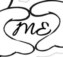 Mom, Dad, me, white hands Sticker