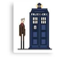 Pixel war Doctor Canvas Print