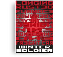 Winter Soldier Activation Words Canvas Print