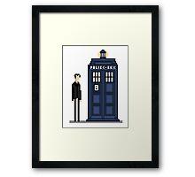 Pixel ninth Doctor Framed Print