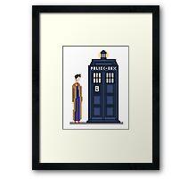 Pixel tenth Doctor Framed Print