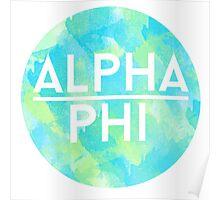 alpha phi aphi sorority sticker greek  Poster