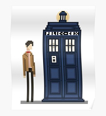 Pixel eleventh Doctor Poster