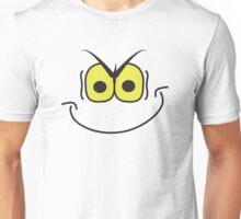 evil super villain genius mischievous smiley face Unisex T-Shirt