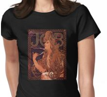 'Job' by Alphonse Mucha (Reproduction) Womens Fitted T-Shirt