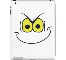 evil super villain genius mischievous smiley face iPad Case/Skin