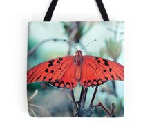 psychedelic orange butterfly Tote Bag