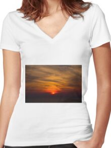 High in the Sky Women's Fitted V-Neck T-Shirt