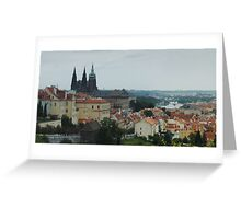 Mist Over Prague Greeting Card