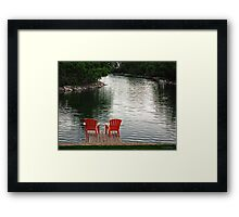 Summer Time by the Lake Framed Print