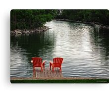 Summer Time by the Lake Canvas Print