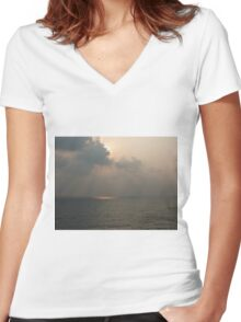 Light Upon the Water Women's Fitted V-Neck T-Shirt