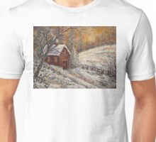 Snowy Sunset Unisex T-Shirt