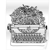 Typewriter Bouquet  Poster