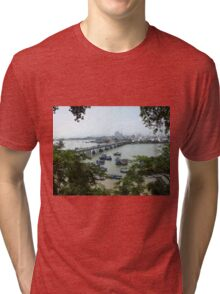 View of Cai River from Po Nagar Cham Tower Tri-blend T-Shirt