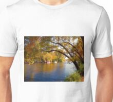 Fall Time Along the River Unisex T-Shirt