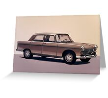 Peugeot 404 Painting Greeting Card