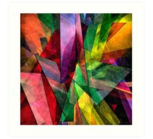 Abstract Glass - 25052013RB - AMCG Art Print