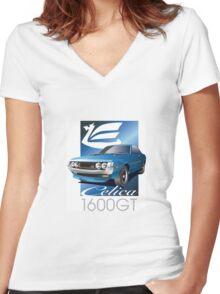 Celica daruma GT Women's Fitted V-Neck T-Shirt