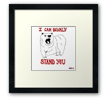 Animals Are Mean: Bear Framed Print