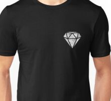 White Marble Diamond  Unisex T-Shirt