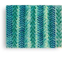 Vine Pattern - Blue Canvas Print